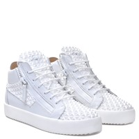 Giuseppe Zanotti Gz The Manhattan White 3d Calfskin Leather Mid-top Sneaker - Best Deal Online