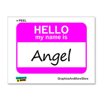 Angel Hello My Name Is Sticker