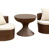 Emerie 3-Pc Outdoor Chair Set, Outdoor Dining Sets