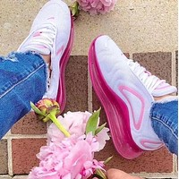 Air Max 720  Nike  Classic Women Casual Air Cushion Sport Running Shoes Sneakers White&Pink