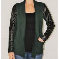Katherine Barclay hunter green cardigan
