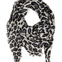 FOREVER 21 Leopard Print Woven Scarf