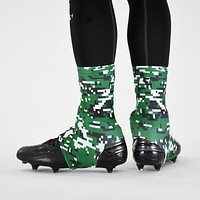 Digital Camo Green Black White Spats / Cleat Covers
