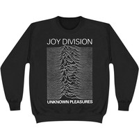 Joy Division Men's  Unknown Pleasures Sweatshirt Black