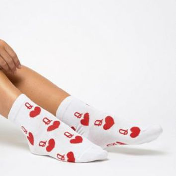 ASOS DESIGN his & hers king & queen ankle sock at asos.com