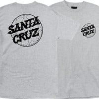 Santa Cruz Cracked Dot Tee Small Athletic Heather