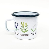Wildflowers Enamel Camp Mug