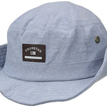 Fourstar Men's Chambray Bucket Hat, Light Indigo, One Size