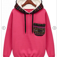 Pink Hoodie. (RUNS SMALL, SIZE UP)