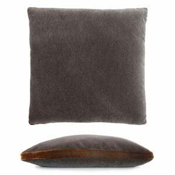 Grey & Copper Mohair Pillow by Kevin O'Brien Studio
