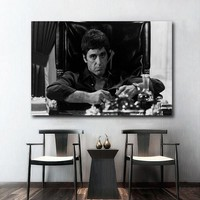 AL PACINO SCARFACE Movie Poster Wall Art Wall Decor Silk Prints Art Poster Paintings For Living Room
