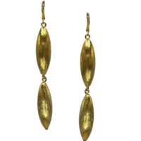 Zeppelin Drop Gold Leverback Earrings