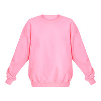 Ultimate Neon Pink Crew Neck Sweater