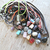 Stone Necklace - Healing Crystals and Stones - Semi-precious Stone Necklace - Spiritual Jewelry - Healing Jewelry - Agate - Turquoise - Boho