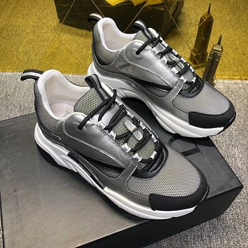 Dior Men's Leather Fashion Low Top Sport Sneakers Shoes
