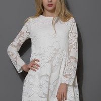 Whirling Dolly Dress in White