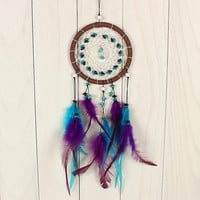 Antique Imitation Dreamcatcher With natural stone Feathers Wall Hanging Decoration Ornament