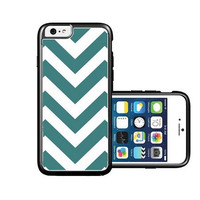 RCGrafix Brand Teal & White Chevron iPhone 6 Case - Fits NEW Apple iPhone 6