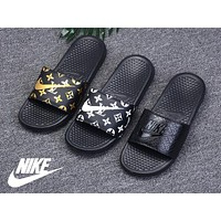 2018 New arrival Nike x Lv slippers 3 colors