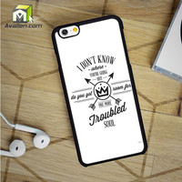 Fall Out Boy Lyric iPhone 6 Case by Avallen