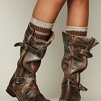 Womens Cafe Racer Boot - Distressed Black,
