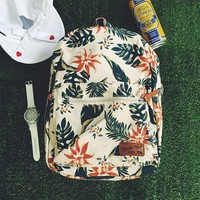 Small Fresh Casual Backpack Canvas Rucksack