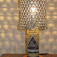 Vintage Blatz Beer Can Lamp With Pull Tab Lampshade - The Mancave Essential