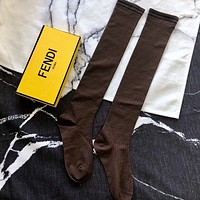 FENDI  Cotton Long Socks