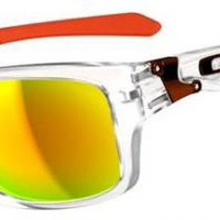 Oakley Jupiter Squared Sunglasses - Matte Clear / Fire Iridium For Sale at Surfboards Etc (2027220)