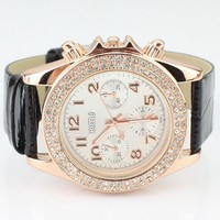 Candy Color Belt Watch for Women Black