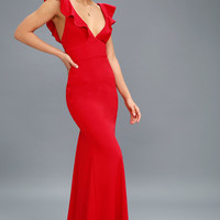 Perfect Opportunity Red Maxi Dress