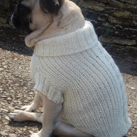 dog cable knit jumper