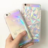 Hologram Iridescent Melting Phone Case For iPhone