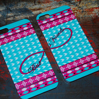 Infinity Aztec Best Friend for Iphone 6 (4.7) 4.7 5c 5 5s 4s 4 Back Cover Pattern Style Print New Artistic Cases Plastic Cover BFF c139A&B