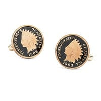 Indian Head Penny Hand Painted Cuff Links - Brooks Brothers