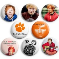 Ed Sheeran Pinback Buttons 8Pcs 1.25 inch Best For Jacket,T-Shirts
