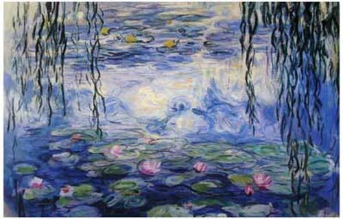 Image of Claude Monet Water Lilies Poster 11x17