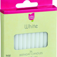 Cake Mate Birthday Party Candles - Round - White - 2 In X 3-16 In - 36 Count - Case Of 12