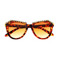 Metal Spikes Studs Punk Gothic Style Round Sunglasses R1100