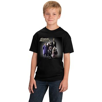 Addams Family Animated Gomez Morticia Lurch Thing Fester Wednesday PugslyT-shirt