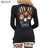 Skull Hollow Out Women Sweaters Knitted Long Sleeve Cardigans Spring Summer Thin Cardigans Sexy Blusas Mujer Body Top Plus Size