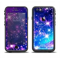 The Glowing Pink & Blue Starry Orbit Apple iPhone 6 LifeProof Fre Case Skin Set