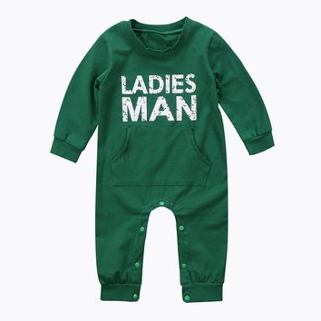 Pudcoco Autumn Newborn Baby Boy Christmas Clothes Infant Boy Ladies Man Green Romper Jumpsuit Playsuit Outfits Warm Clothing