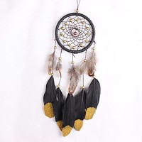 Pannow Classic Gift India Boho Style Feather Dreamcatcher Wind Chimes Wind Chime Dream Catcher Hanging Decoration Ornament P15