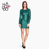 slim sexy dress sequins bodycon dress backless party women dress