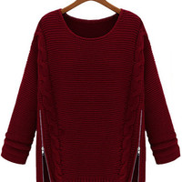 Side Zipper Sweater