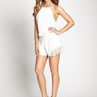 The Flirty Romper with Lace | GUESS.com
