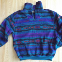 Aztec 90s Fleece Pullover Off Brand Patagonia Style 90s Fleece