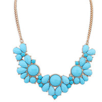 Sweet Flower Necklace  Statement Necklace Fashion Necklaces