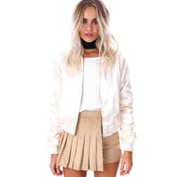 GJ180 Women Luxe Slik Satin Bomber Jacket Classic Outwear Autumn Winter Fall Spring Coats Outwear New